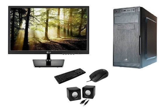 Computador Intel Core I3 + Monitor De 18,5 + Kit Multimídia!