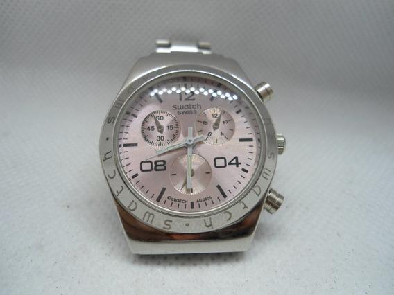Relógio Quartz Swatch ,usado Como Mostruario Mas Novo