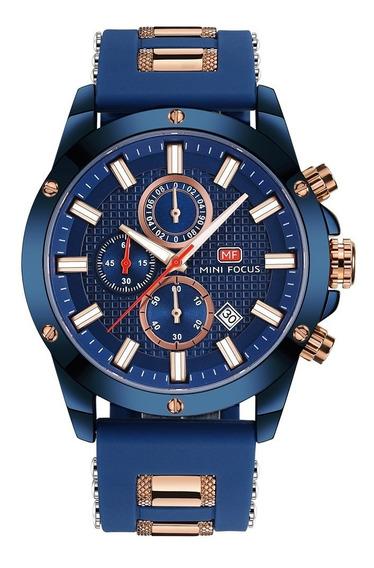 Mini Focus Reloj De Cuarzo Azul