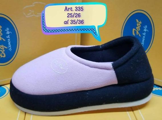 Pantuflas Big Foot Niños Art 335 Oferta