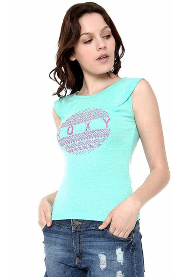 Playera Color Turquesa Roxy Talla S