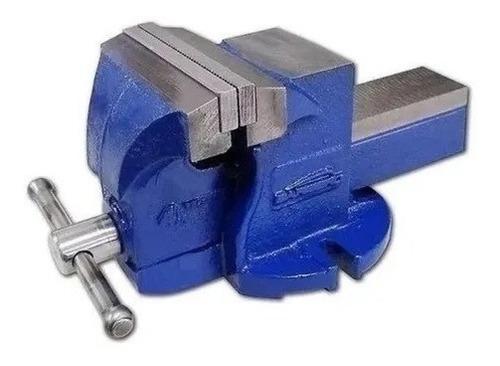 Morsa De Banco Barbero 4 PuLG Azul Profesional Con Yunque