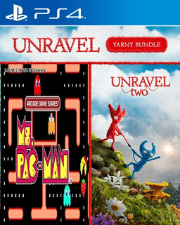 Unravel Two & Ms Pacman Arcade Para Ps4