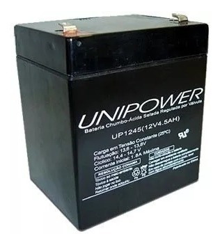 Bateria Selada 12v 4,5ah Unipower Up1245 - Vida Útil: 3 Anos