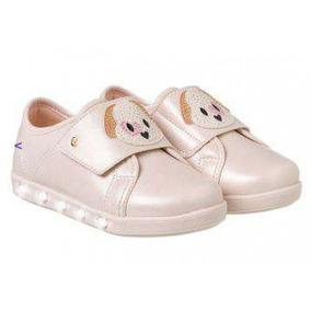 Tenis Infantil Sneaker Luz Pampili 165.085 - Nude