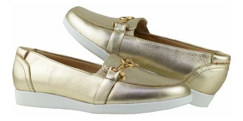 Imagen 1 de 8 de Zapatos Bonitos Dama  Flexi 45302 Oro Originales