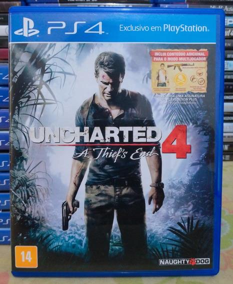 Uncharted 4 Thiefs End Ps4 - Jogo Mídia Física Em Português