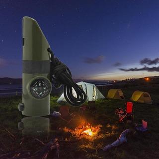 Pesca Apito De Sobrevivência Camping Bussola Lanterna Etc...