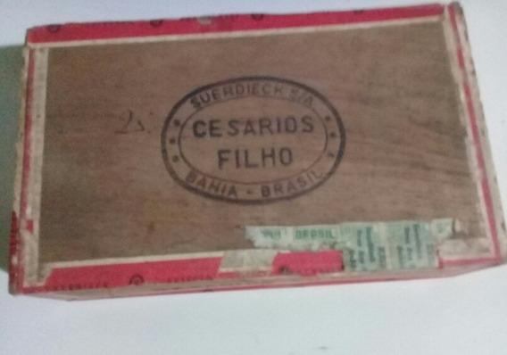 Antiga Caixa De Madeira Suerdieck -cesarios Filho