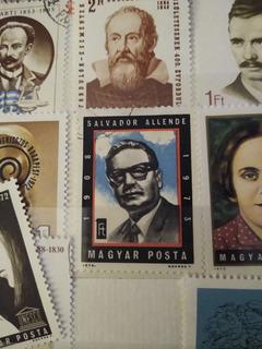 Estampilla Filatelia - Salvador Allende (hungría- M. Posta)
