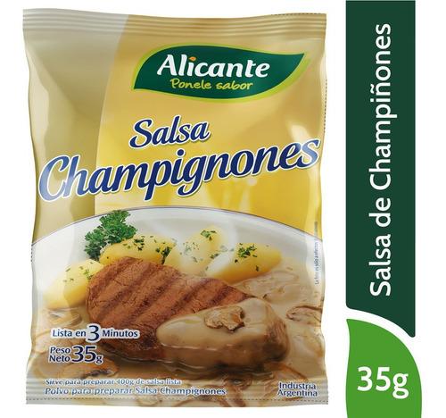 Alicante Salsa Champignon Para Preparar Lista En 3 Min X35 G