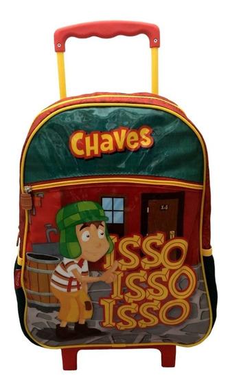 Mochila Escolar G Rodinhas Infantil Chaves Desenho Original