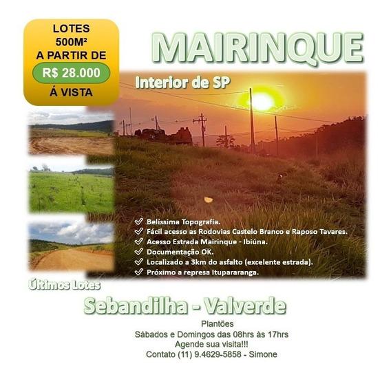 Terreno Em Sebandilha - Mairinque R$ 28 Mil - Lote 16