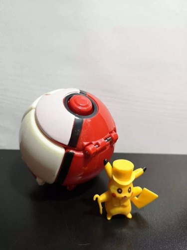 Pokemon Pokebola  Lanzadora + Muñeco Pikachu  X8