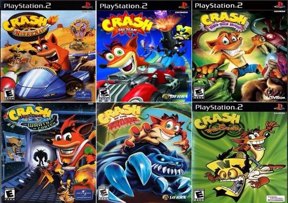 Coleção Crash Bandicoot 6 Jogos Patch P/ Ps2 Desbloqueado