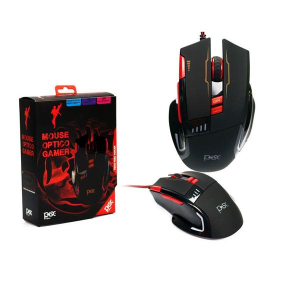 Mouse Gamer Profissional 3200 Dpi Multímidia Iluminado Usb