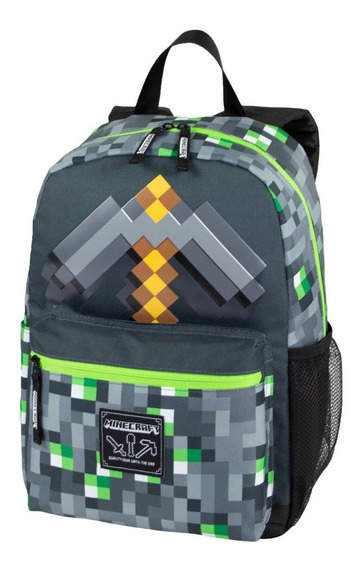 Minecraft Pico Gris Original Mochila Backpack Nueva