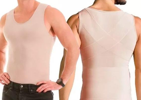Cinta Modeladora Masculina Compressão Body Shaper Regata C91