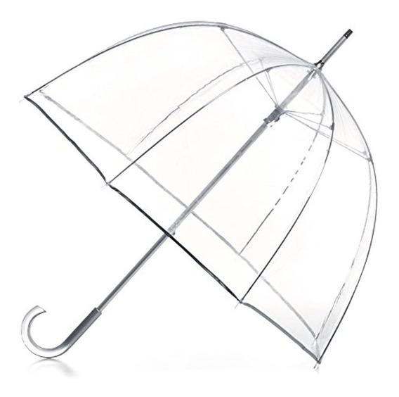 Totes Totes Signature Manual Bubble Umbrella, Clear, Us