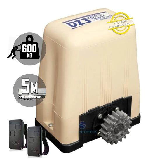 Kit Motor Deslizante Portao Eletrônico Rossi 5m Dz3 Turbo