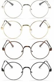 91671dd8c Armação Redonda Lennon Óculos Grau Harry Potter Retrô Vintag