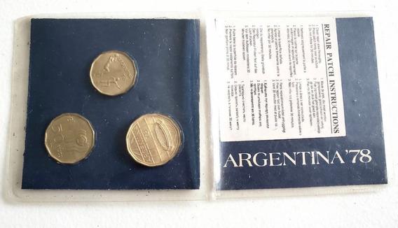 Monedas Argentinas Del Mundial 78 - Colección !! Año 1977 !!