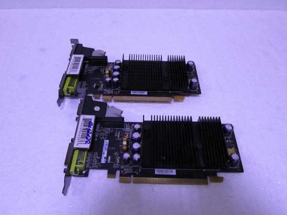 2 Placas Video Nvidia Pci Expres Gf7200gs 256mb Ddr2 Defeito