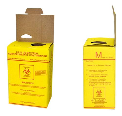 Caja De Eliminacion Material Cortopunzante Amarillo Mediana