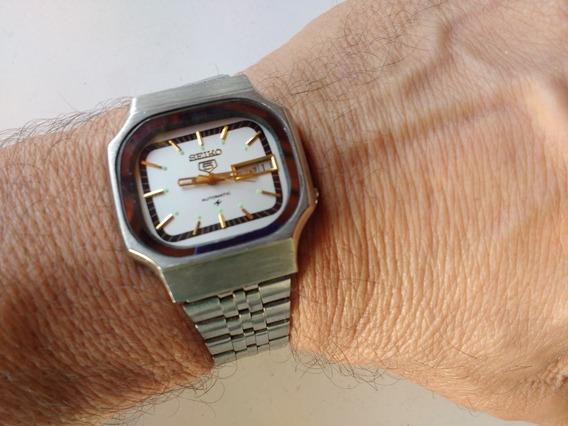 Relógio Seiko 5 Automático Raro Perfeito Branco Revisado B