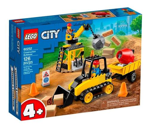 Imagen 1 de 10 de Lego City Bulldozer De Construcción 126 Piezas