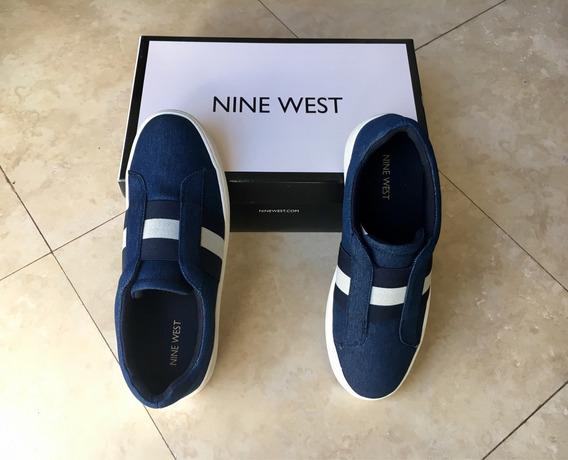 Zapatos Tenis Nine West !! Azul Talla 25.5 Súper Sport Cool