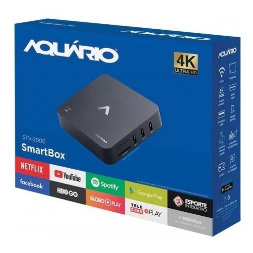 Smart Tv Box Android Stv-2000 Aquário Homologado Pela Anatel