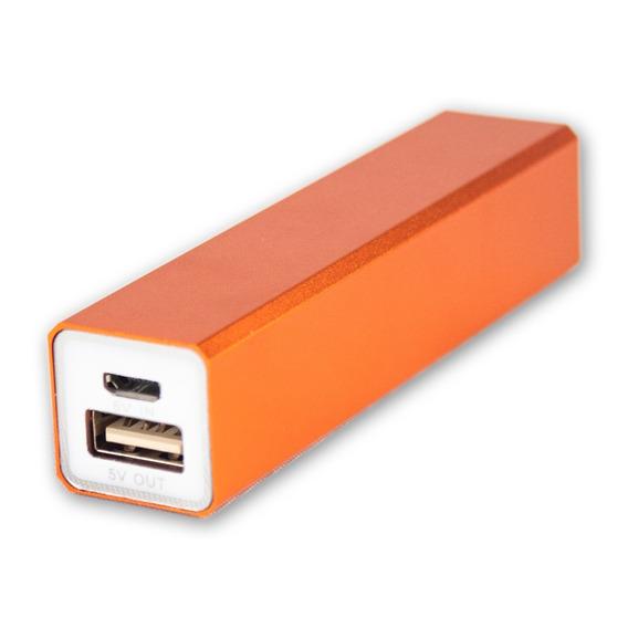 Batería Power Bank 2200 Naranja Cargador Portátil Celular