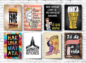 Kit 10 Placas Decorativas Retro Vintage Frases Frete Gratis