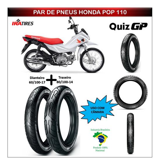 Par Pneu Honda Pop 110 Todas Dianteiro Traseiro