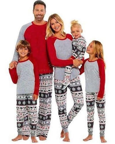 Imagen 1 de 10 de Pijamas De Navidad Para Toda La Familia