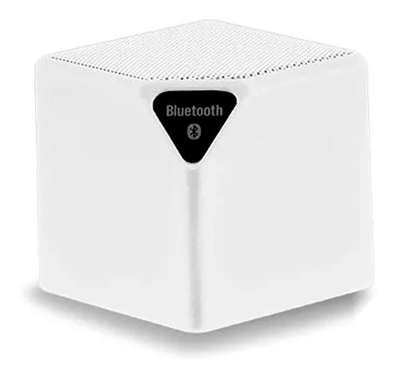 Caixa Som Cubo Speaker 3w Usb Bluetooth Aux Micro Sd Branco