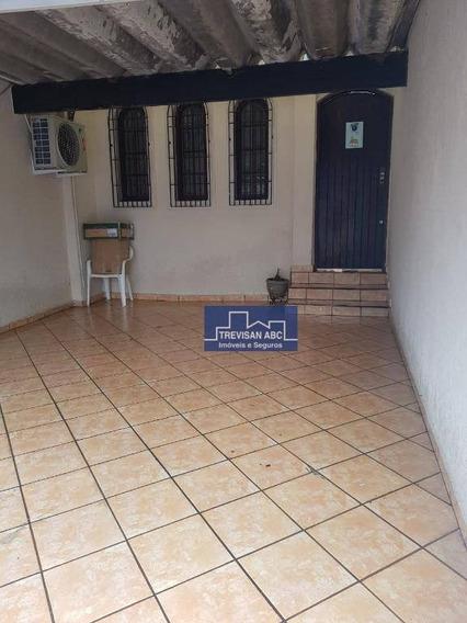 Casa Terrea No Planalto Sbc Com 2 Dorms, 1 Vaga, Quintal Com Churasqueira - Ca0055