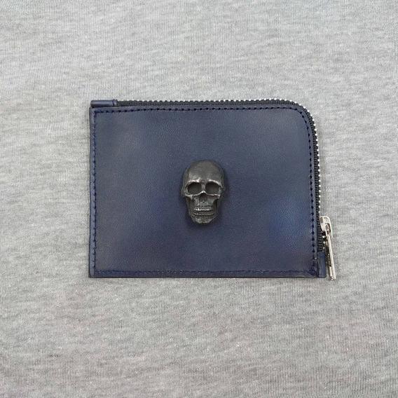Monedero Liso Skull Marca Mecánico Jeans
