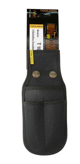 Porta Lapiz Lapiceras Cuter Cinturon Toolmen T16 Triple