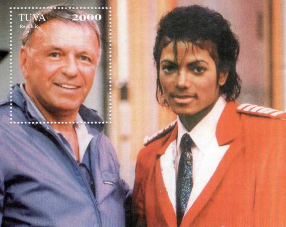 Hojas De Estampillas De Frank Sinatra Y Michael Jackson