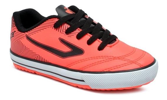 Tênis Futsal Infantil Topper Frontier Ix 4203663 Coral/preto