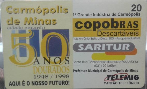 Mídia : Carmópolis De Minas 50 Anos - Telemig - R$ 4,20