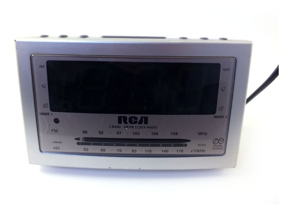 Radio Relógio Marca Rca Modelo Rp3703a Display Grande Voltagem 120 V 9 Watts Usado Com Marcas Sem Embalagem A11521