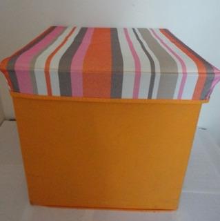 Caja Organizador Cesta Ropa Con Tapa Tela P10 Jcd