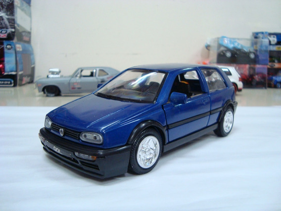 Miniatura Volkswagen Golf Gt Mk3 1/24 Azul #avl369