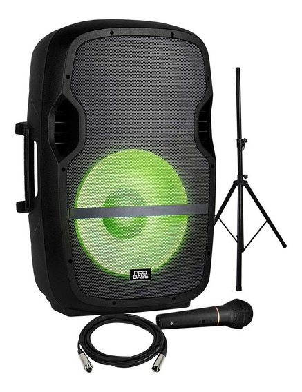 Caixa De Som Bluetooh Amplificada 200w Bivolt 15 Pol Pro Bass Usb/sd/bt