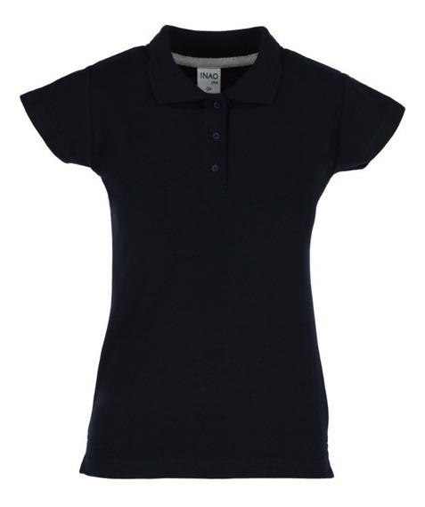 Playera Nao Tipo Polo Premuim Marino De Mujer/uniformes
