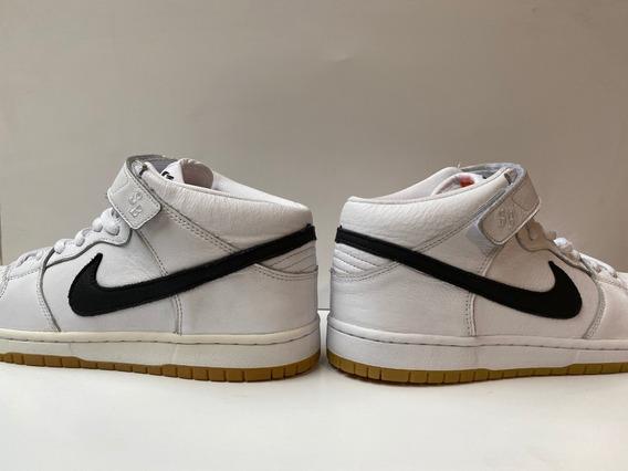 Zapatilla Nike Sb Dunk Mid Pro Blanca 10.5 Par Exhibido!!!