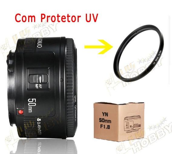 Lente Para Canon Yongnuo Pronta Entrega Nova 50mm + Uv